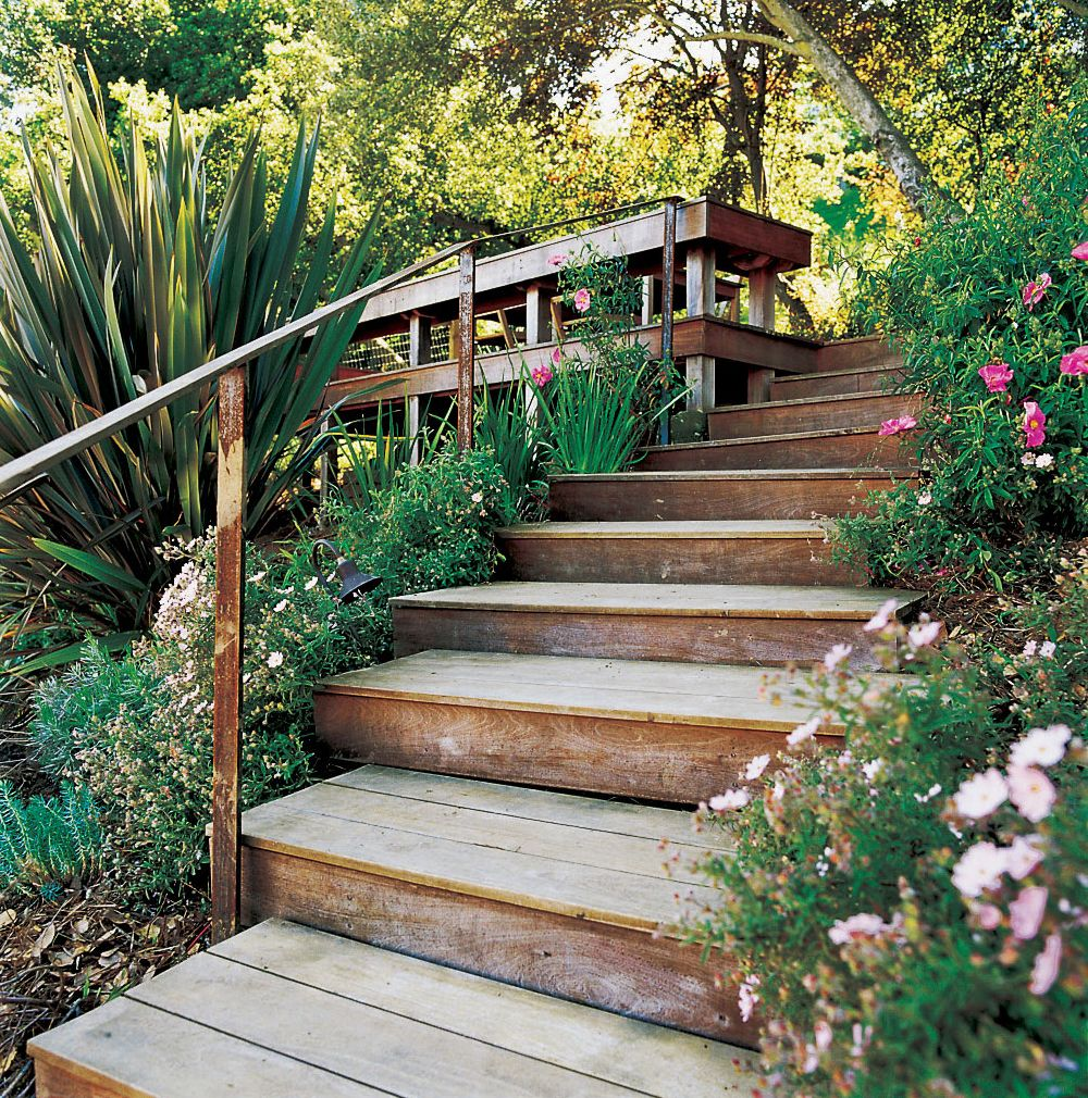 Steep Backyard, Garden Stairs, Steep Gardens