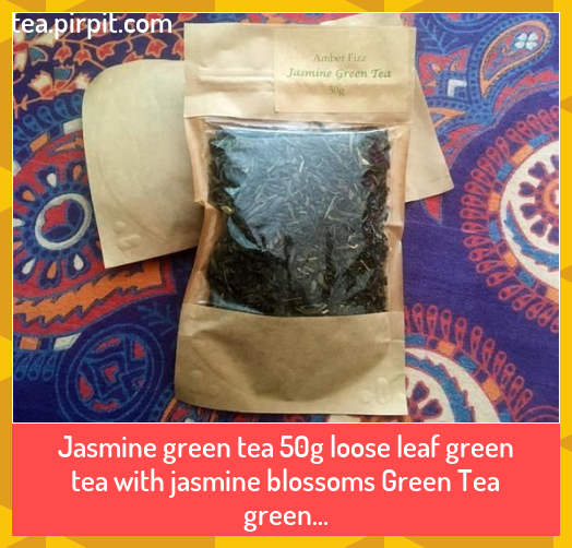 Photo of Jasmine green tea 50g loose leaf green tea with jasmine blossoms Green Tea green…