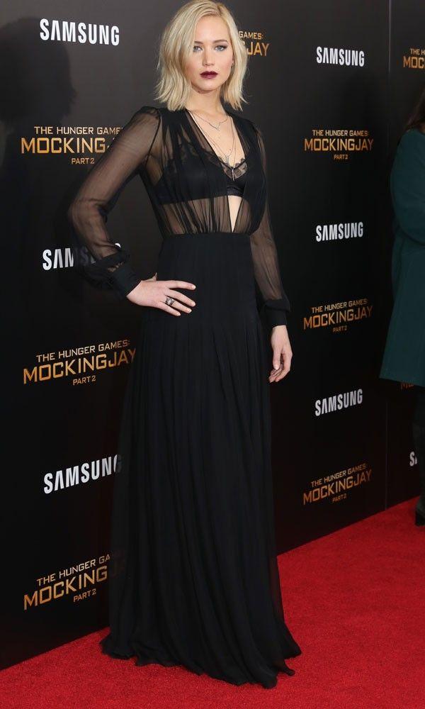Jennifer Lawrence In Our Sheer Inspo In Schiaparelli