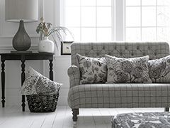 Marcus Sofa with Alfie Lamp Base and Valetta Lampshade