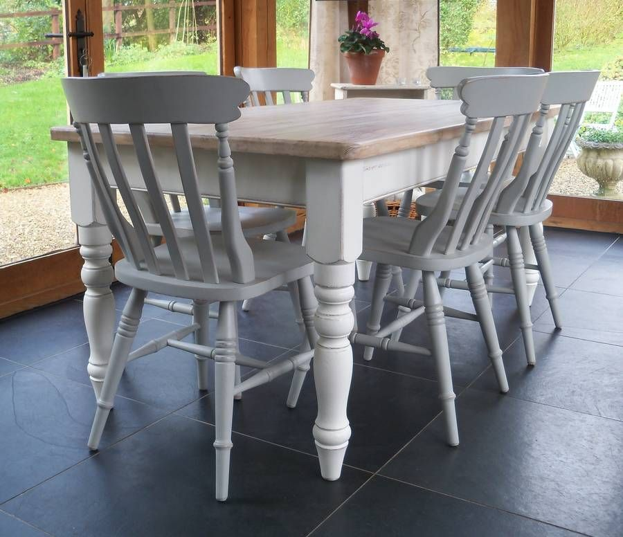 Chilmark Table With Cottage Chairs Hand Painted  Farmhouse Table Stunning Kitchen Table Chairs Decorating Inspiration