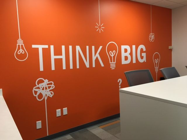 Think Big Wall Decal Office Wall Design Office Wall Decals Meeting Room Design Office