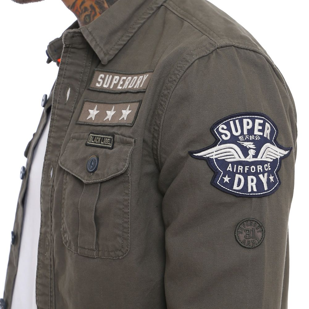 9c3454e1 Superdry Military Storm Over Shirt in 2019 | Teksas | Shirts, Cargo ...