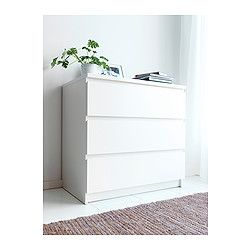 Malm Chest Of  Drawers White X Cm