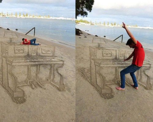 Perspective At The Beach - http://funny.starboyonline.net/funny/perspective-at-the-beach