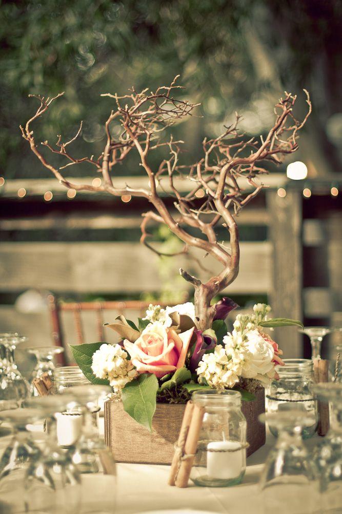 Rustic diy evening garden party inspired wedding tree