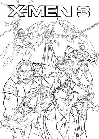 X Men 3 Coloring Page From X Men Category Select From 25744 Printable Crafts Of Cartoons Nature Coloring Books Star Wars Coloring Book Mermaid Coloring Pages