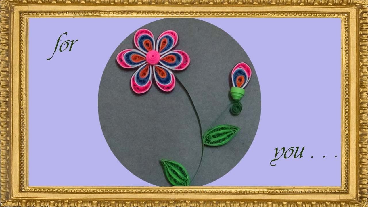 Paperquilling How To Make Beautiful Flower Using Paper Quilling