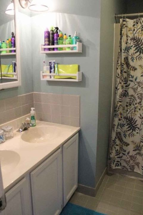 These Bathroom Organization Ideas Will Make Your Mornings So Much Easier Small Bathroom Storage Bathroom Storage Shelves Tiny Bathroom Storage