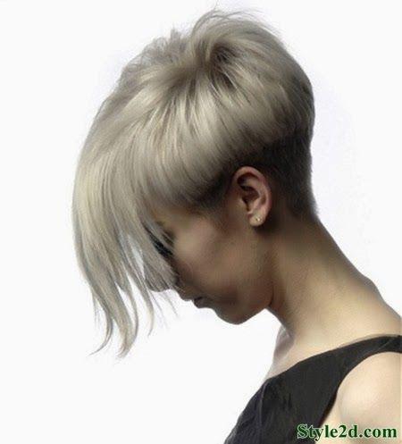 Short Hairstyles Straight Hair Messy Bob Cut