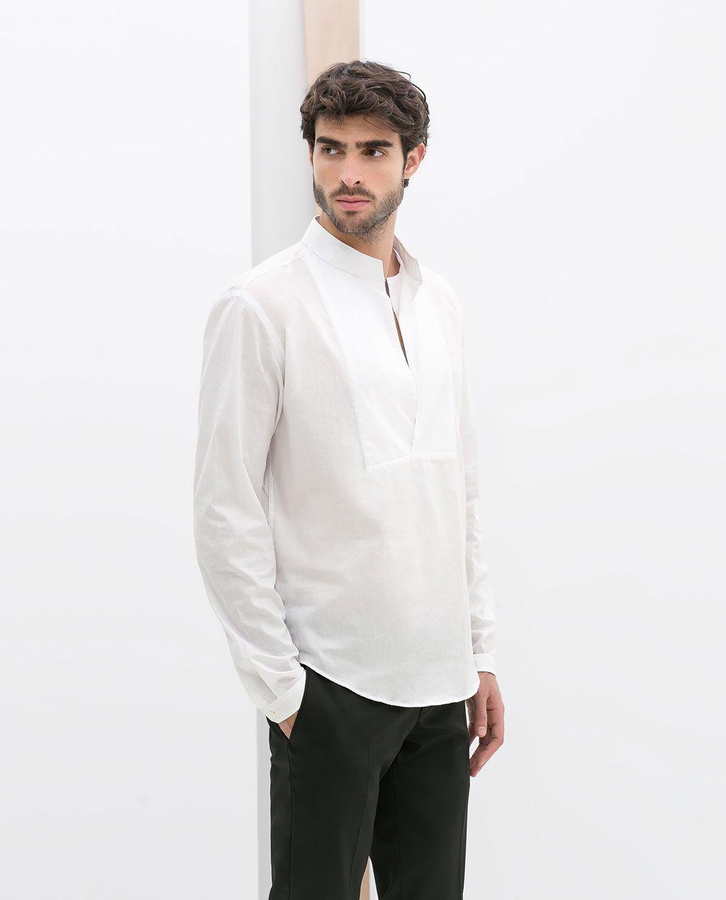 nouveau concept f950a 03f3d CHEMISE COL MAO VOILE DE COTON de Zara | Style in 2019 ...