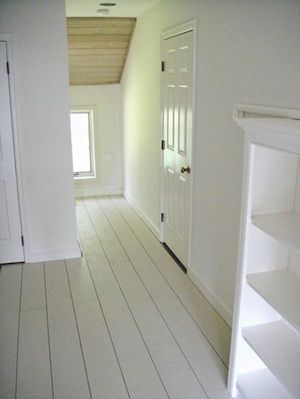 if wood floors not in good shape paint with white with a bit of green not nearly as dark as this - Paint For Wooden Floor