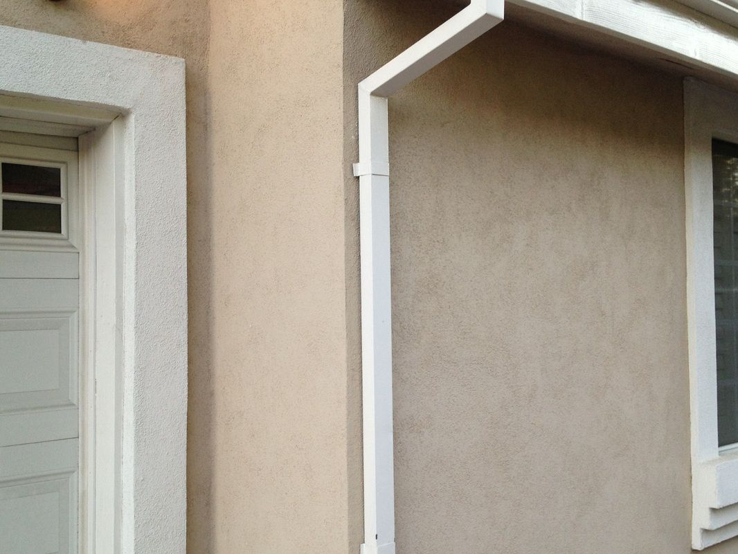 Square Downspouts Smooth Finish Downspout Smooth Finish It Is Finished