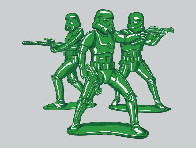 Imperial Army Men T-Shirt - Stormtrooper T-Shirt is $11 today at TeeFury!