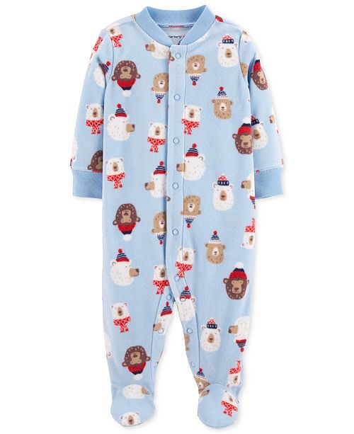 1c3dd055fc27 Carter s Carter Baby Boys Bear-Print Footed Coverall