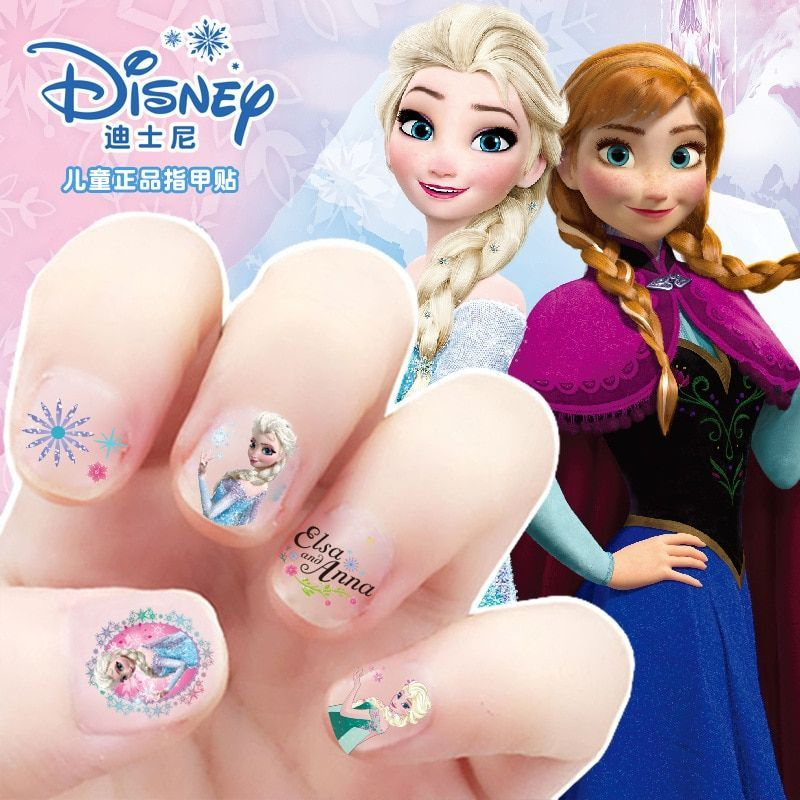 girls Frozen elsa and Anna Makeup Toys Nail Stickers Disney snow White Princess Sophia Mickey Minnie