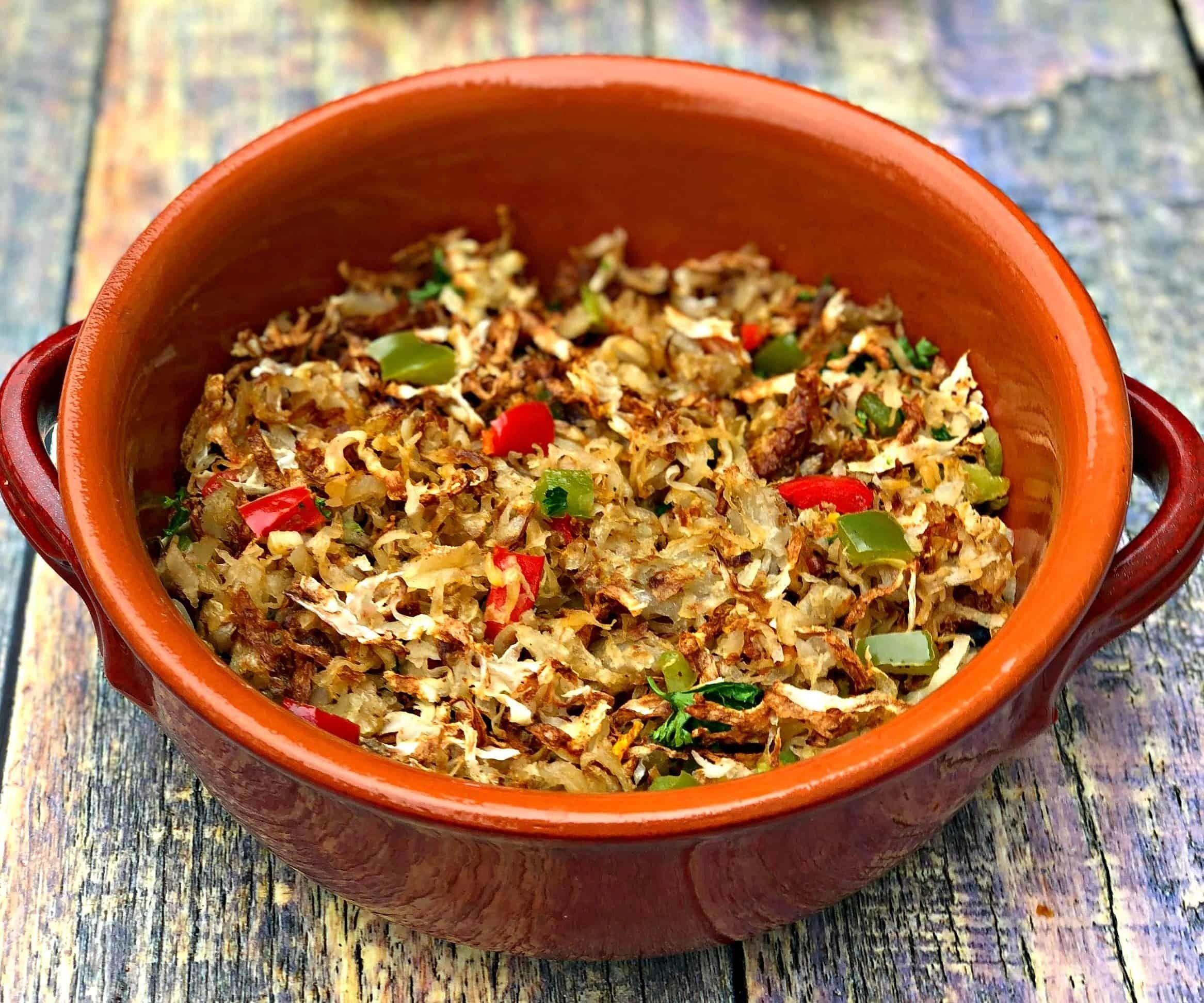 Air Fryer Loaded Hash Browns Vegetarian nutrition