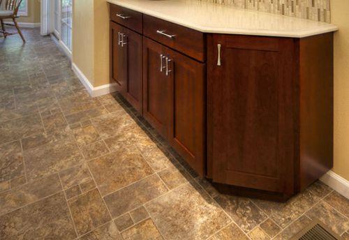 Looks Like Ceramic Tile But It S Linoleum Flooring