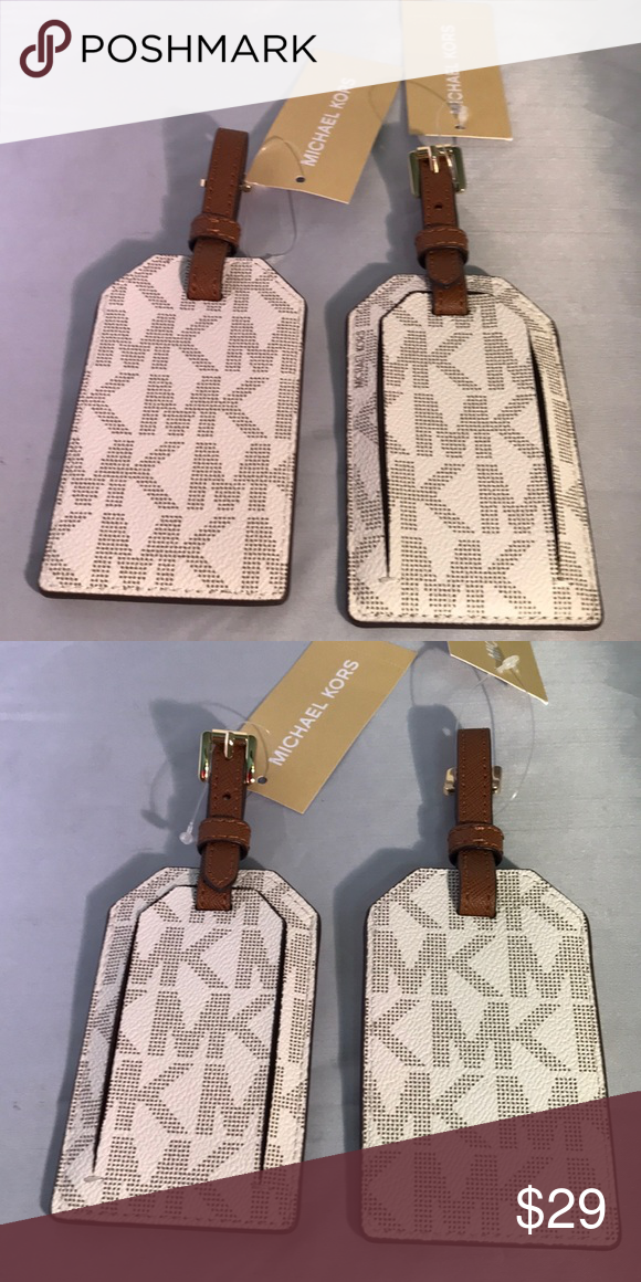 1922c8e6d38e Michael Kors Vanilla jet set travel Luggage Tag Make your luggage easy to  find with this