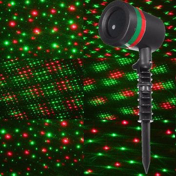15w red green star shower laser stage light outdoor christmas