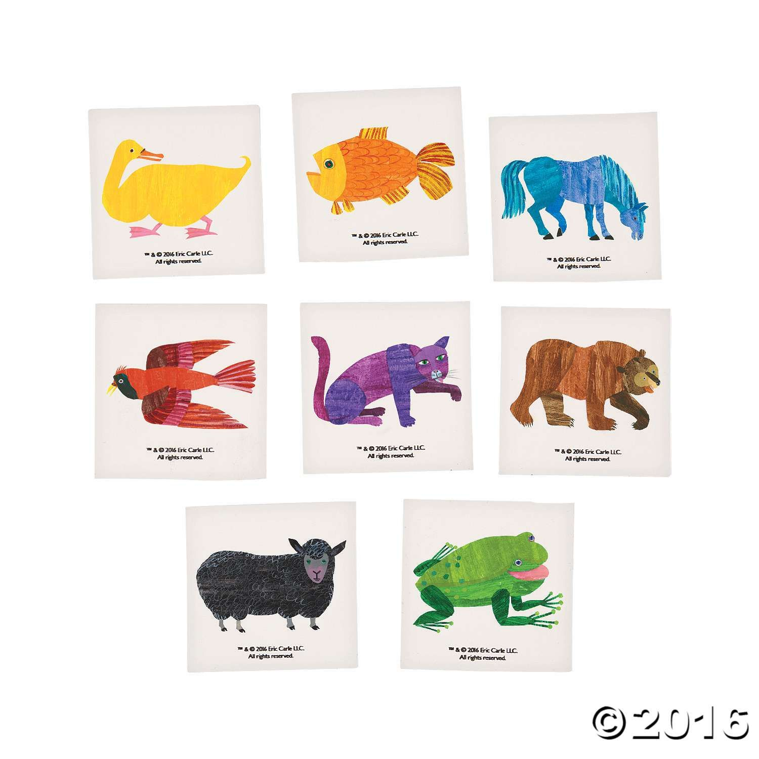 Brown Bear, Brown Bear, what do you see? Do you see temporary tattoos featuring your favorite colorful characters from Eric Carle's Brown Bear book? These ...
