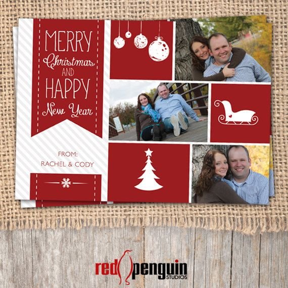 merry christmas happy new year photo collage by redpenguinstudios
