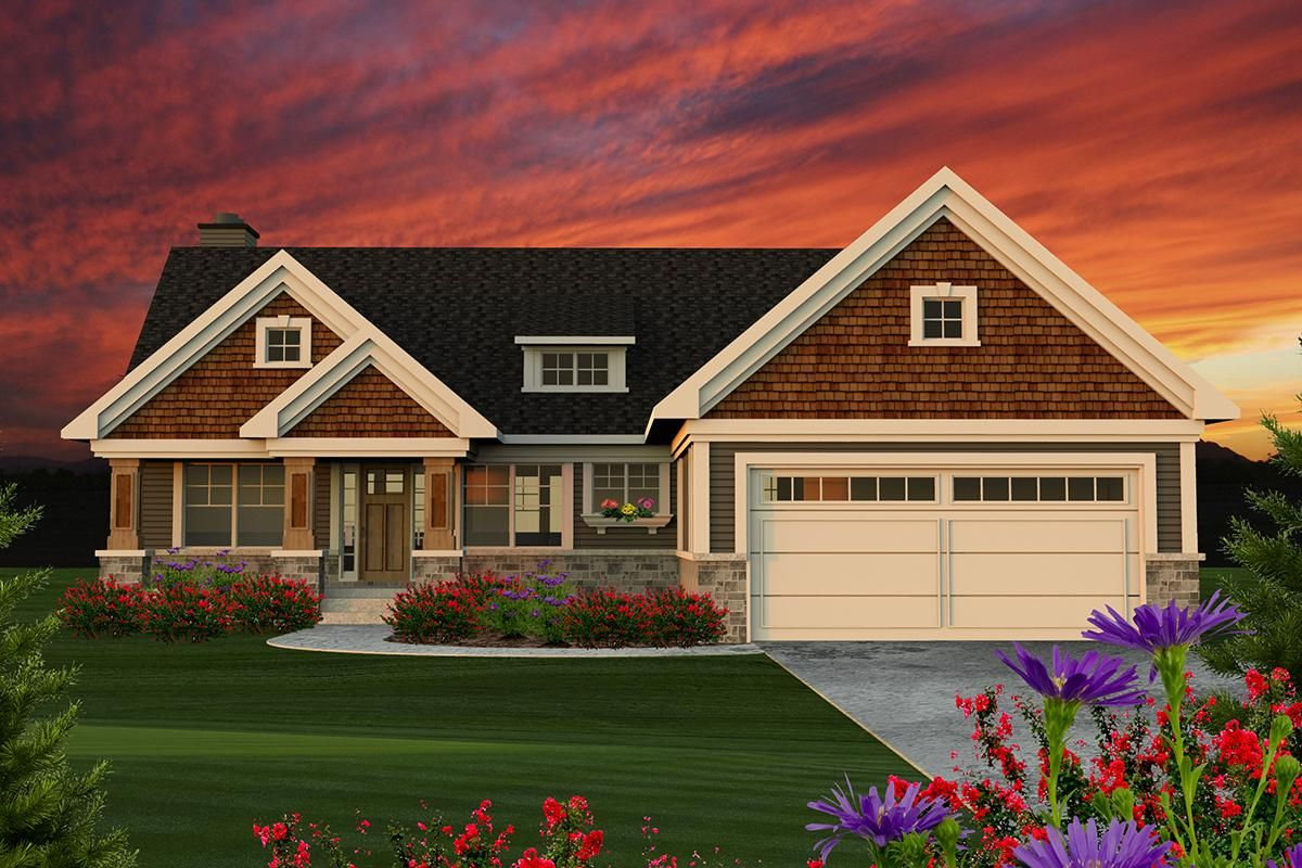 House Plan 1020 00089 Craftsman Plan 1 734 Square Feet 2 Bedrooms 2 Bathrooms Ranch Style House Plans Ranch Style Homes Craftsman House Plans