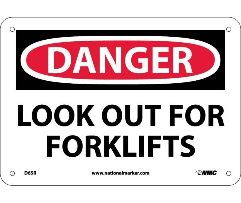 Danger Look Out For Fork Lifts 7x10 Rigid Plastic Authorized Personnel Only Confined Space Security Signs