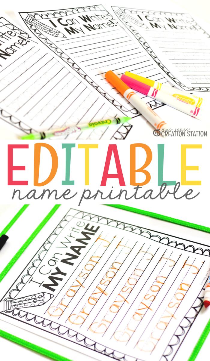 Name Writing Practice - Handwriting FREEBIE   Classroom   Pinterest