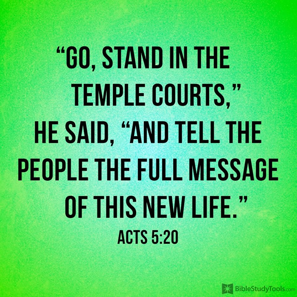 ACTS 5:20