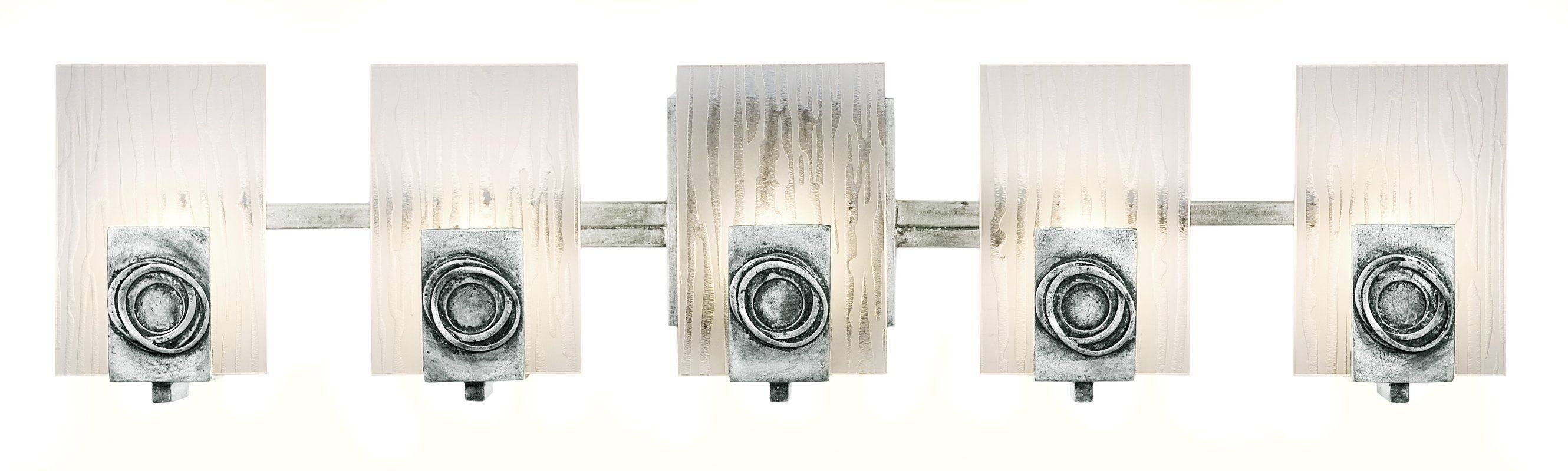 Varaluz B Light Bathroom Fixture Made of Recycled Steel and
