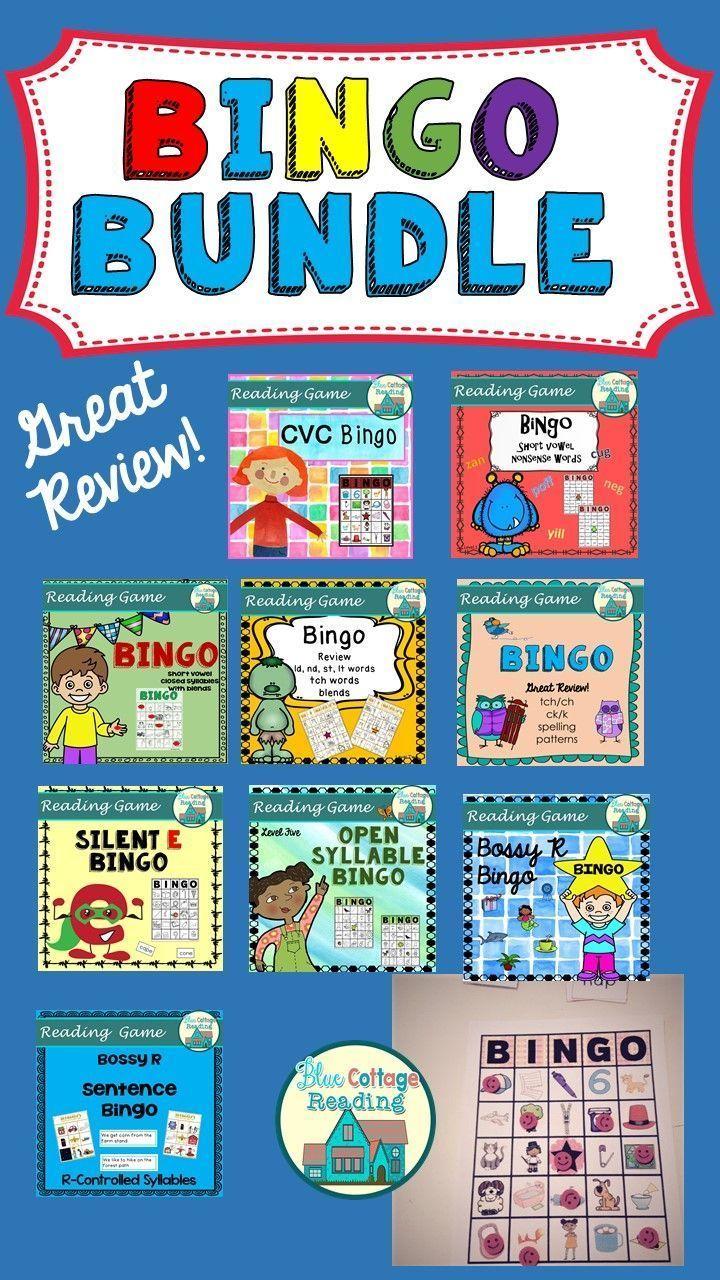 Bingo Bundle Bingo, Reading tutoring, Phonics