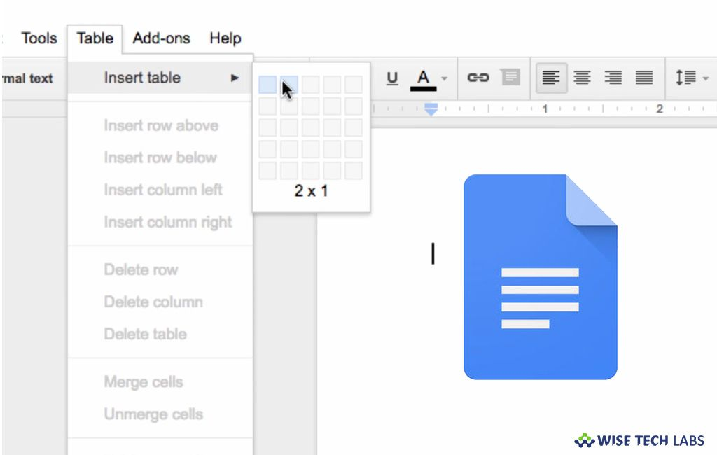 How To Insert Or Remove Columns In A Document In Google Docs Wise Tech Labs Google Docs Lab Tech Google