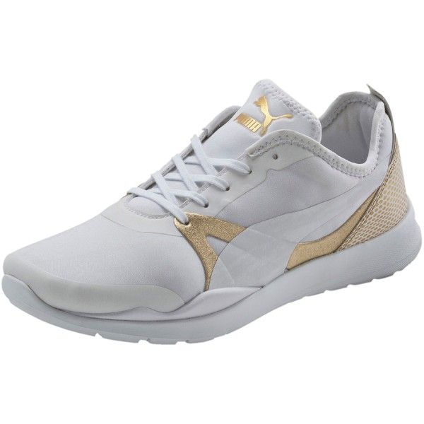 Puma Duplex Evo Gold Women's Sneakers ($75) ❤ liked on Polyvore featuring  shoes,