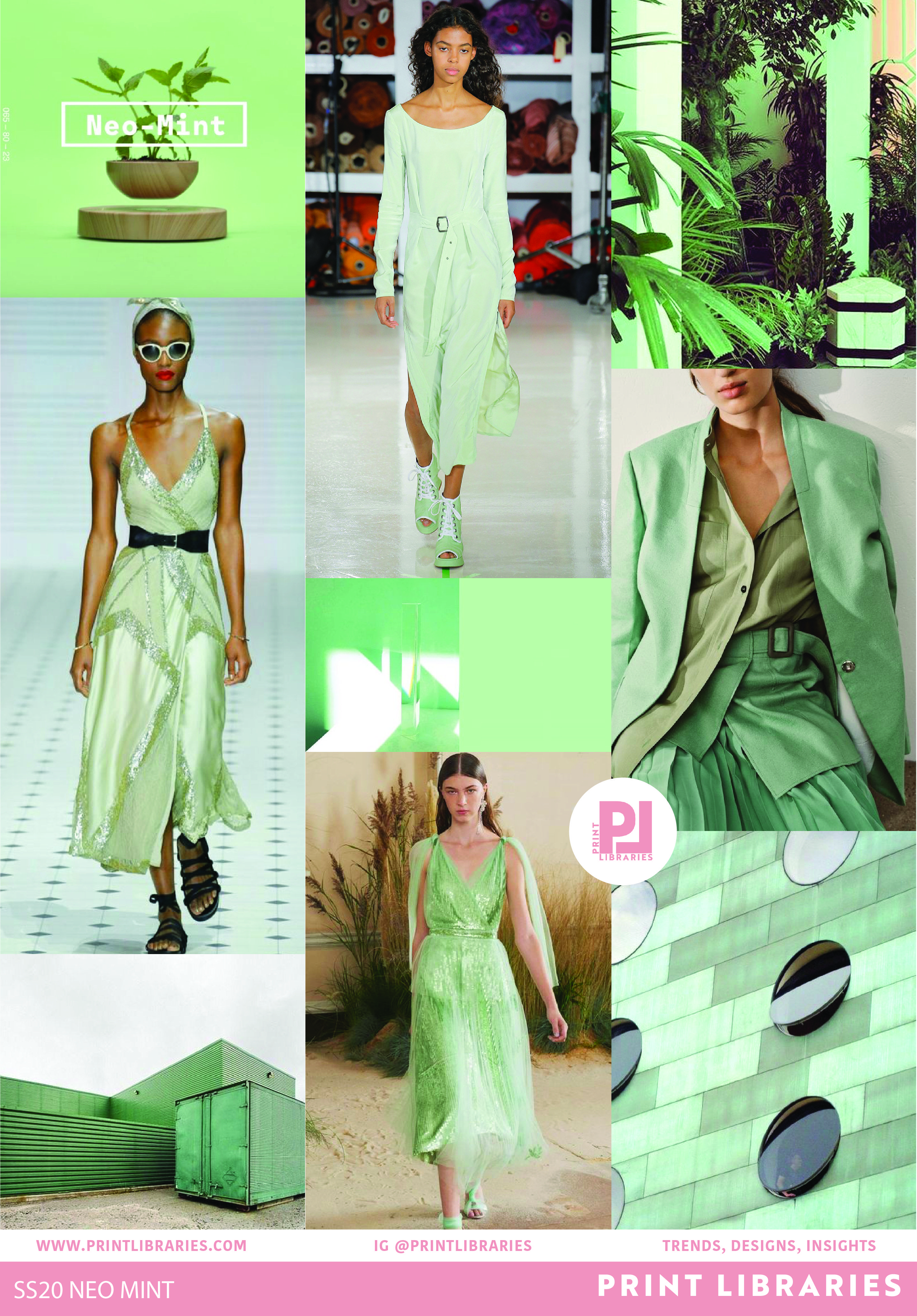 Neo Mint 2020 Trend Board | Colour in 2019 | Color trends ...