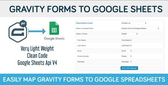 Gravity Forms to Google Sheets  Add your Gravity Forms data to