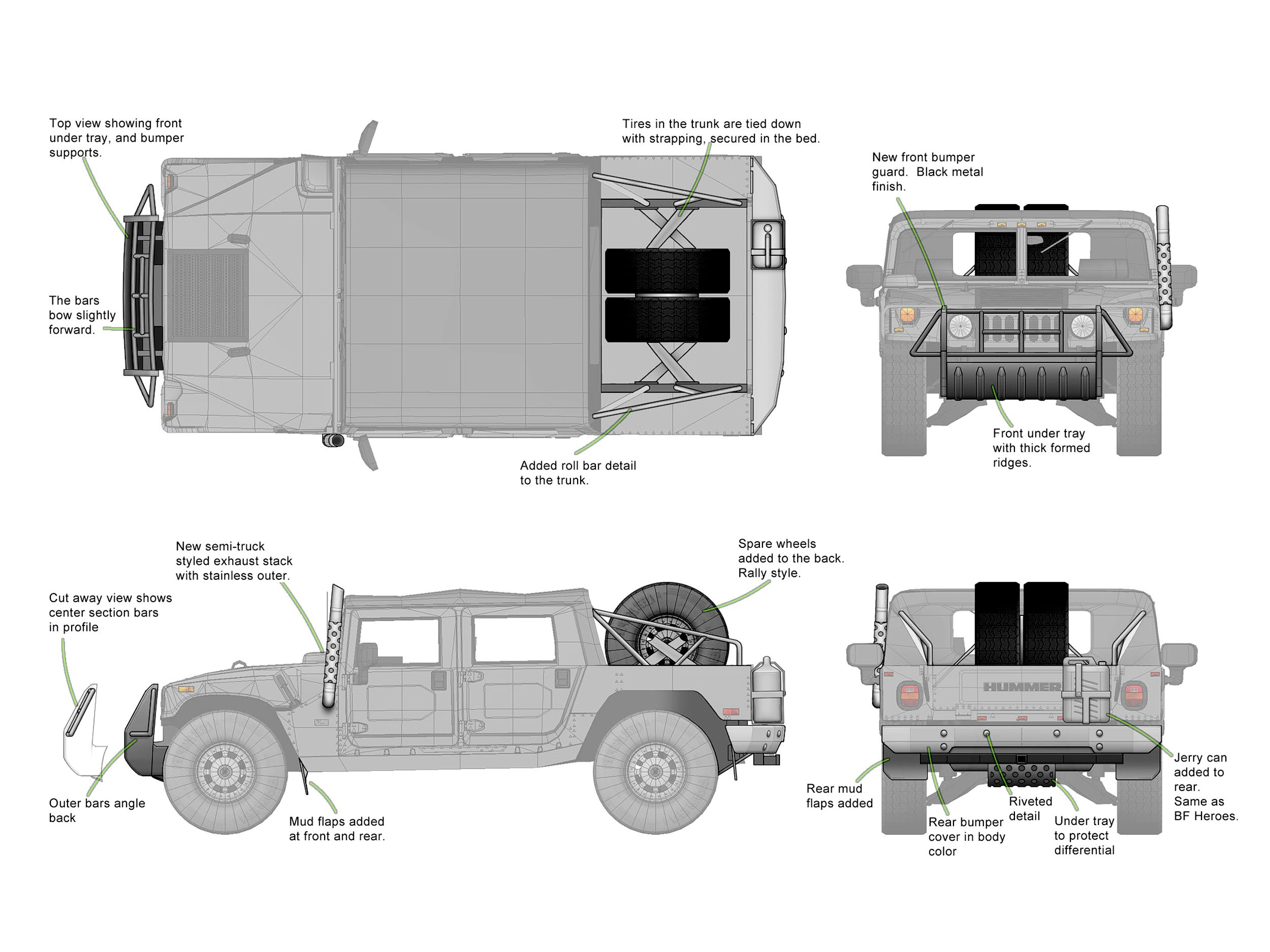 referencia ortogonal blueprint Hummer H1 para modelagem 3d by mike Hayes #hummer #3d #vehicle #modeling #military #car #jeep #referencia #vetor #drawing #cardesign #vector #blueprint #modo #maya #3dmax #c4d #blender