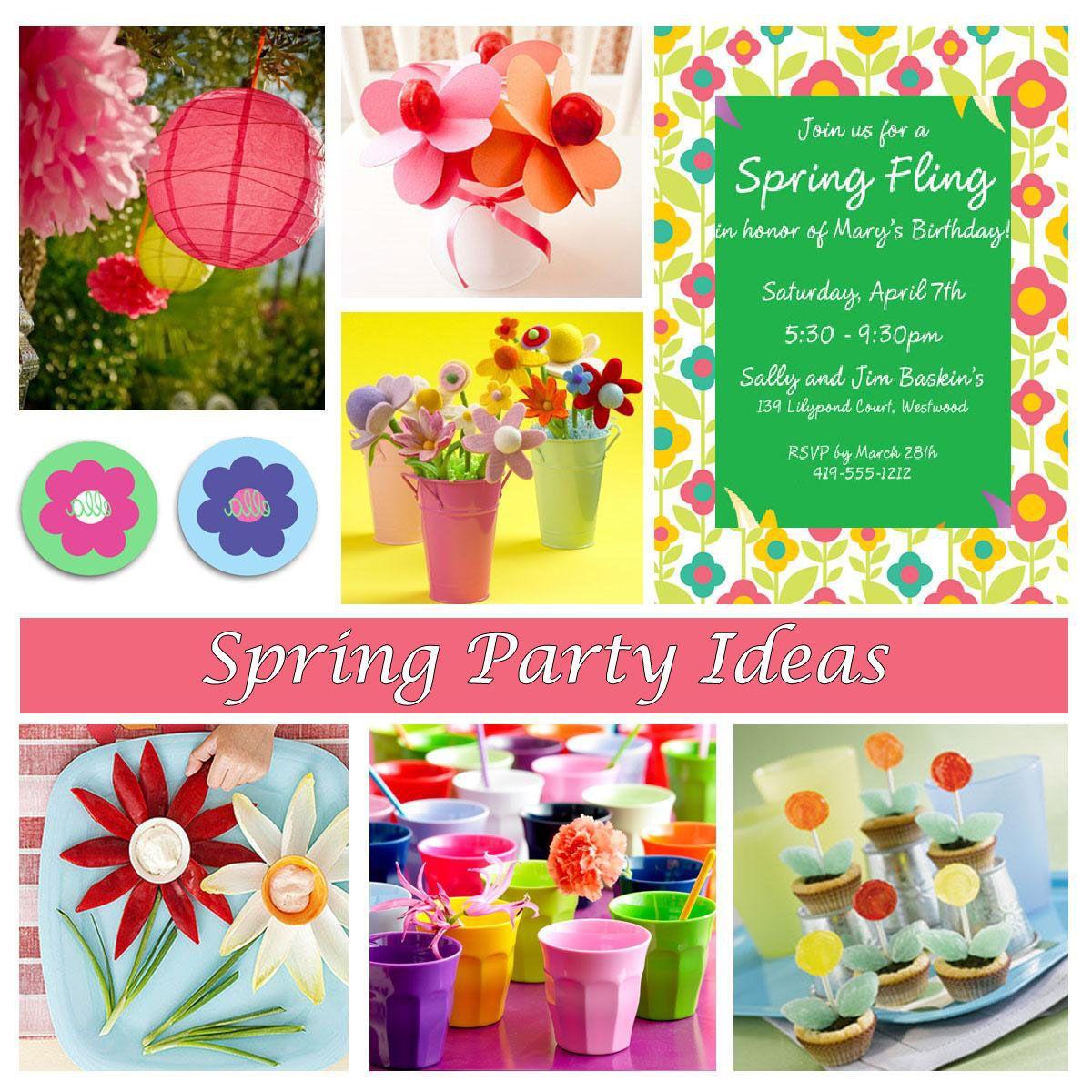 Spring party ideas theme