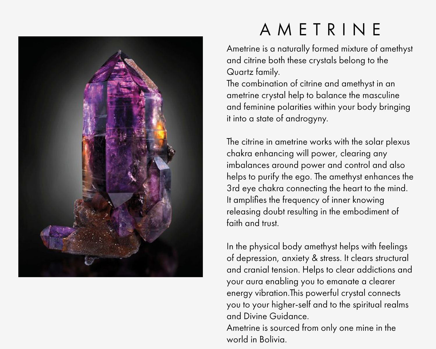 Ametrine is a naturally formed mixture of amethyst and citrine ametrine is a naturally formed mixture of amethyst and citrine both these crystals belong to the biocorpaavc Image collections