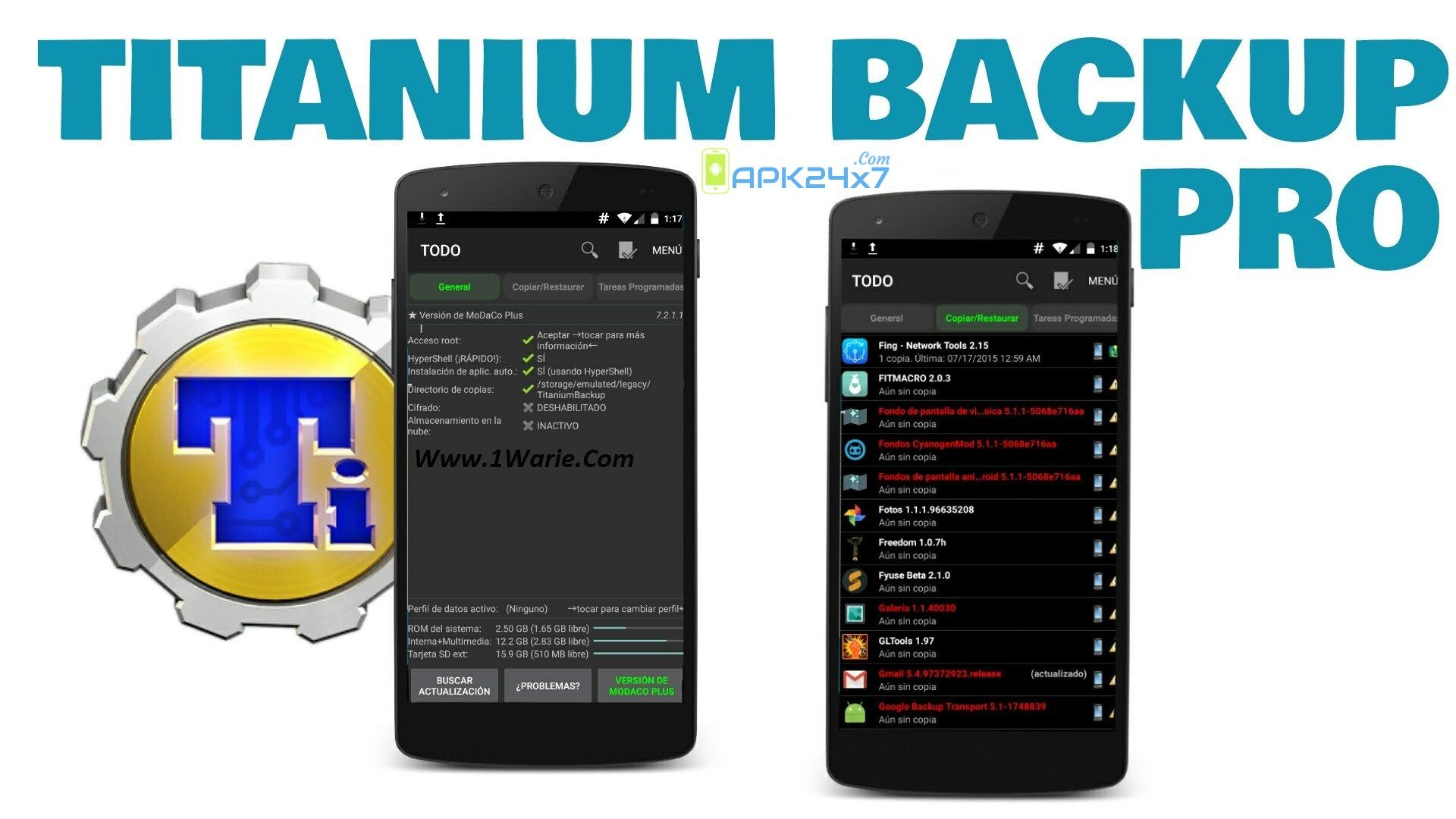Titanium backup pro apk full