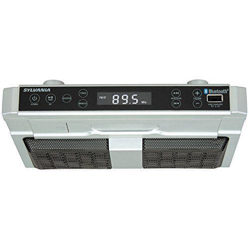 sylvania skcr2810bt under cabinet clock radio, music system with ... - Bluetooth Radio Küche