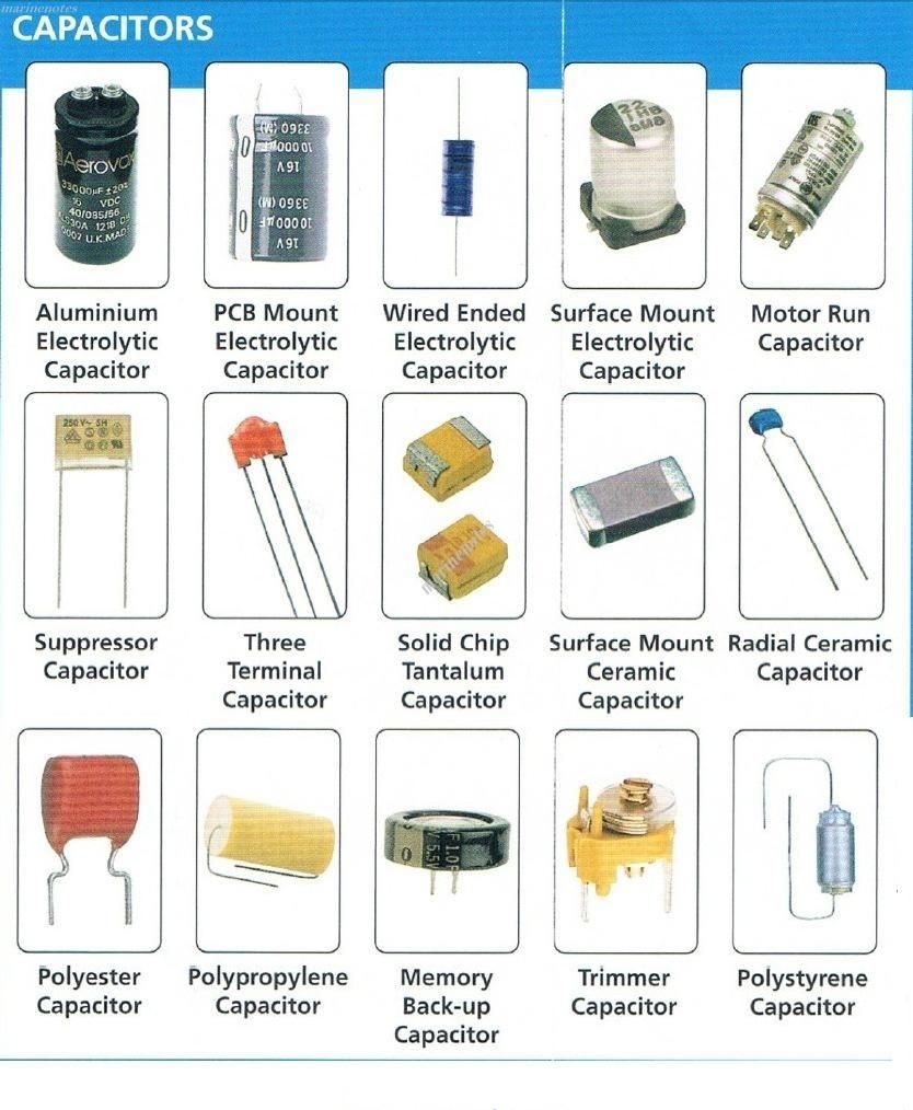 Types Of Capacitors And Their Specifications Nerd Projects