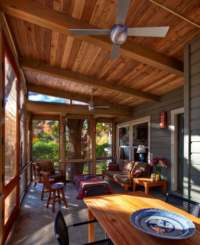 Front Porch Ceiling Ideas: Love This Ceiling Contrast With Th Floor..