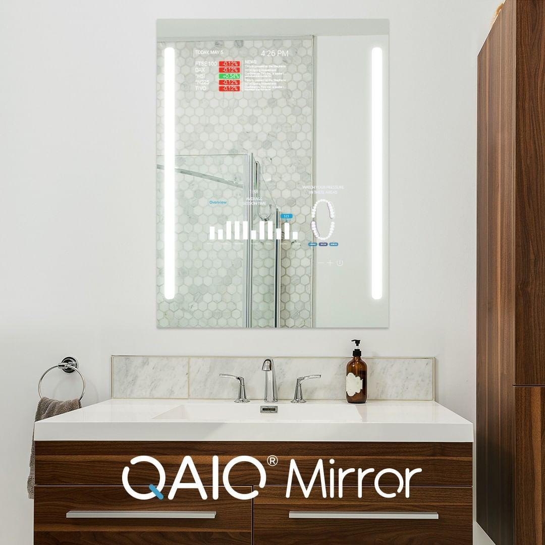 Qaio Smart Mirrors Geben Ihrem Badezimmer Ein Fenster Zur Welt
