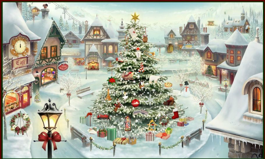 A Jacquie Lawson Virtual Christmas Puzzle Picture With Images