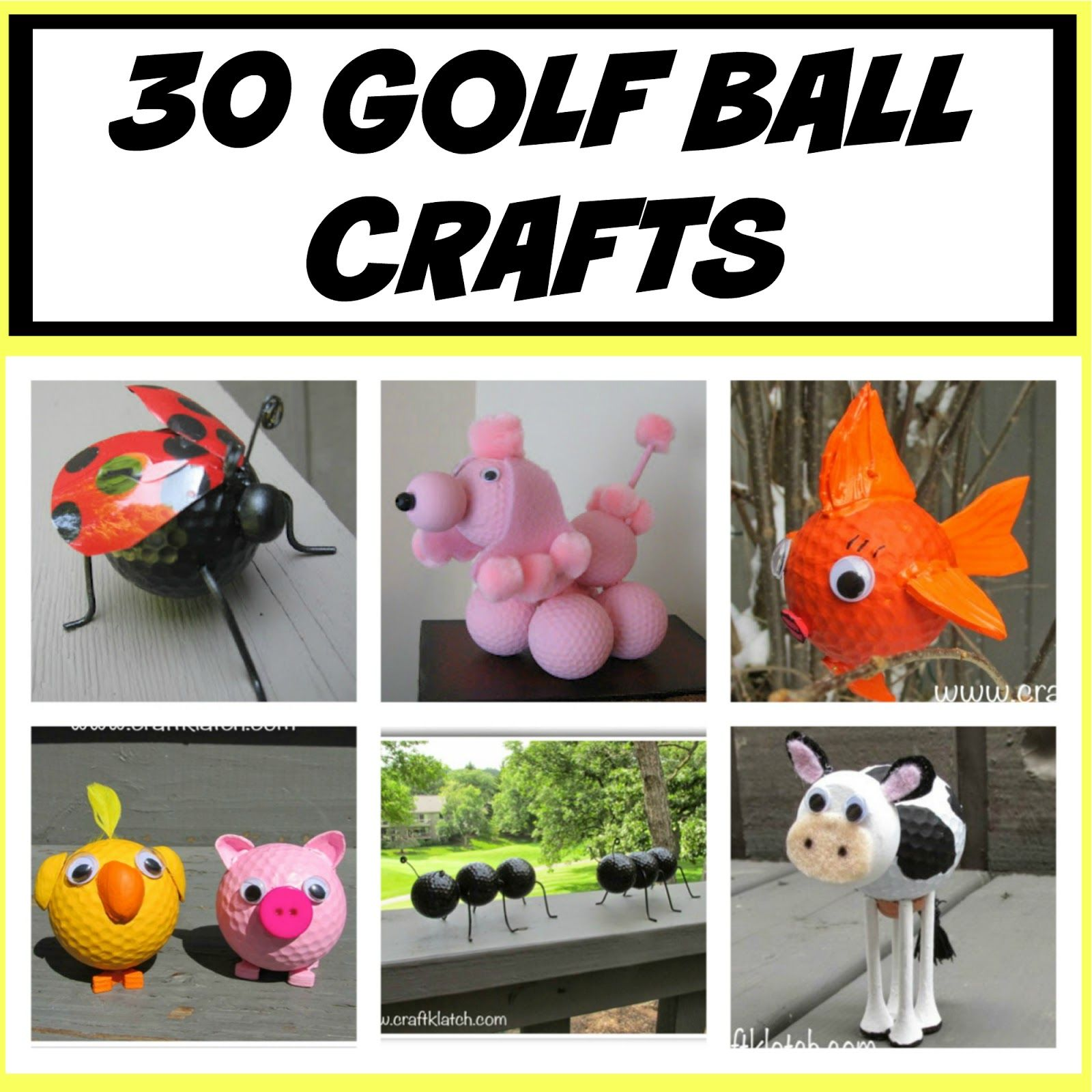 Merveilleux Golf Ball, Golf Ball Crafts, How To, How To Make, Recycle,