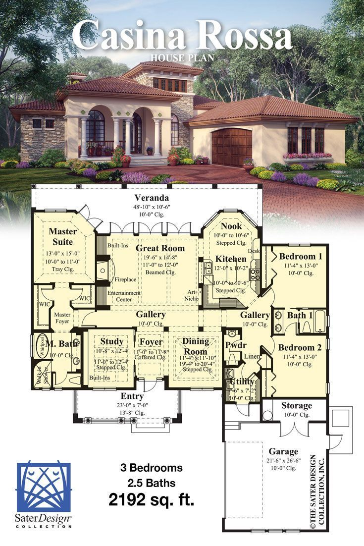 Old World Villa Home Plan Tuscan House House Plans Tuscan House Plans