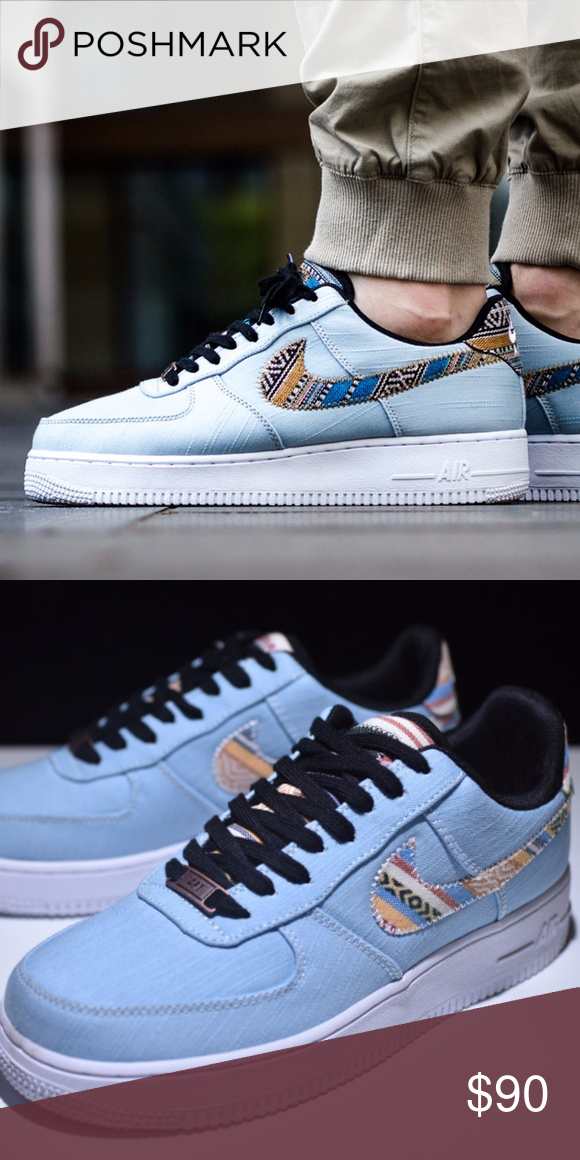 25f545f1f6238 Men's Nike Air Force 1 LV '08 (Sz 10.5) Brand new in Box 100% authentic  Excellent Condition Sz 10.5 Men Light blue/White Colorway Ships Doubled  Boxed Nike ...