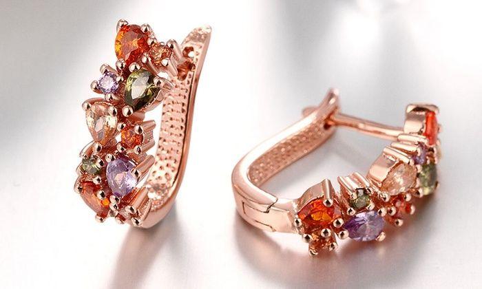 Mona Lisa Crystal Earrings Made With Swarovski Elements
