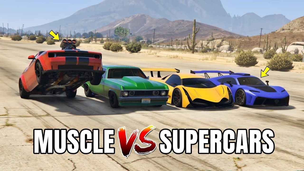 Gta 5 Online Muscle Cars Vs Supercars Can Muscle Cars Beat Supercars Super Cars Muscle Cars Gta 5 Online